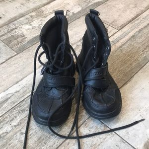 Polo boots size 10 black lace up